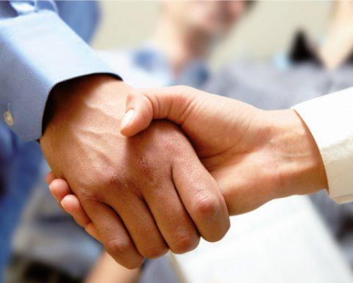 Prodia Flyer Handshake